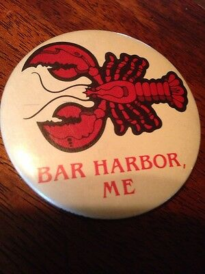 Bar Harbor Maine, ME Lobster Collector Tourist Hat Or Shirt Pin