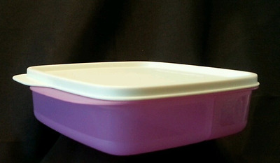 Tupperware Lunch-It Divided Square Lunch Box Container Snacks Sides Purple New