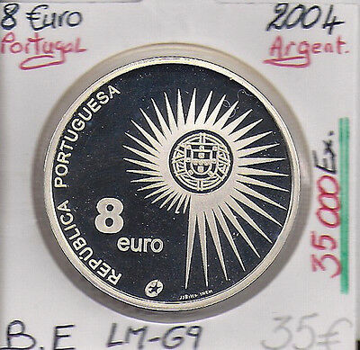 8 EUROS - PORTUGAL - 2004 - PIECE EN ARGENT (35 000 Ex) // Qualité: BE