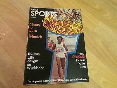 WORLD Sports Magazine covers all sports Jul 72 / 1972  SEE PICTURES FOR CONTENTS