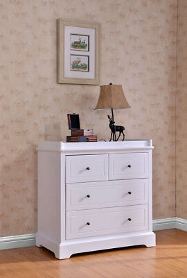 Joy Baby White Finland Pine Baby Change Table 4 Chest of Drawers w/ change pad