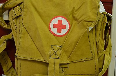 Authentic Soviet Russian Army Medic Bag Case Red Cross, 1980