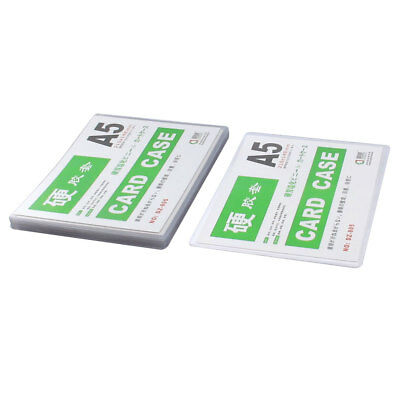 10pcs Clear Plastic A5 Name Credit ID Card Sleeves Protector Holder Cover Case