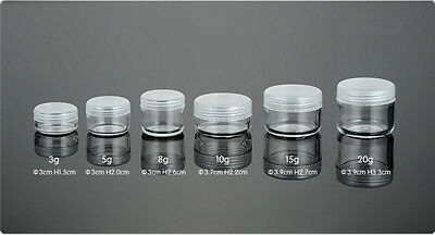 10x 5g Mini Cosmetic Empty Jar Pot Eyeshadow Makeup Face Cream Container ZH141