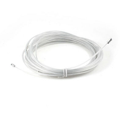 White 3.5mm Diameter Electrician Through Steel Wire Cable Pulling Puller 30M