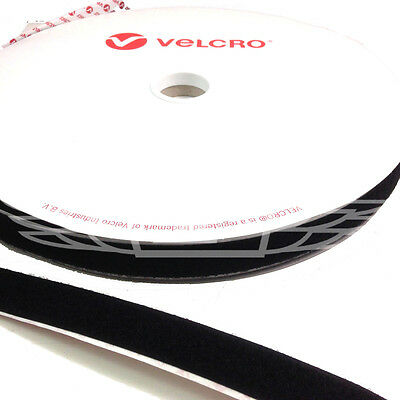 VELCRO® BRAND 20mm x 25 meters BLACK SELF ADHESIVE LOOP ONLY STICKY BACK TAPE