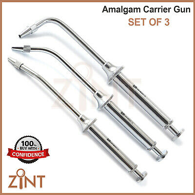 Set of 3 Amalgam Carriers Alloy Gun 1036  Single Ended Composite Placing Set New
