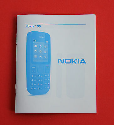 "NOKIA 100 USER Guide ""USED"""