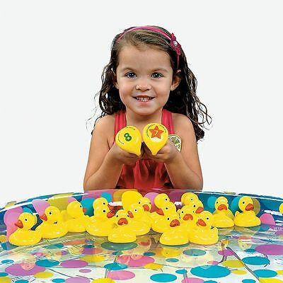 40 - Yellow Weighted Plastic Carnival Ducks For Matching Game - Birthday Party