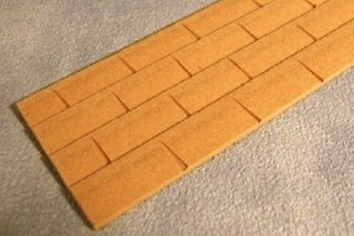 5 MDF Wood Roof Tiles, Doll House Miniature, Building & DIY. 1.12 Scale, Roofing
