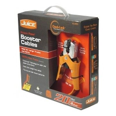 United Marketing BC0860 4 Gauge 20ft Juice Booster Cables with Cinch-Lock