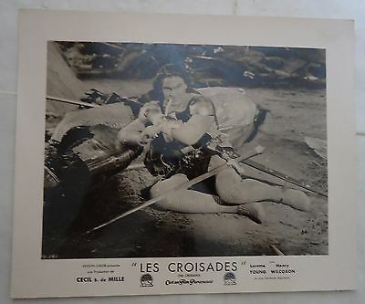 CECIL B.DE MILLE/THE CRUSADES//french photo-lobby