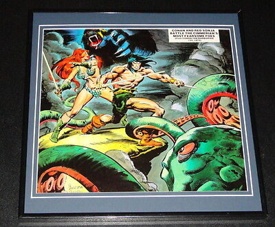 Conan the Barbarian & Red Sonja Original Framed 1977 Poster 12x12