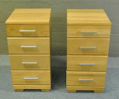 Mid Century Modern Pair of Nightstands Designed by Raymond Loewy for Mengel
