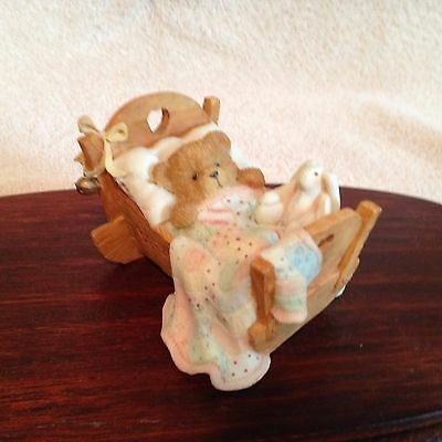 1992 Cherished Teddies, 911356, Baby,Cradled With Love,8282
