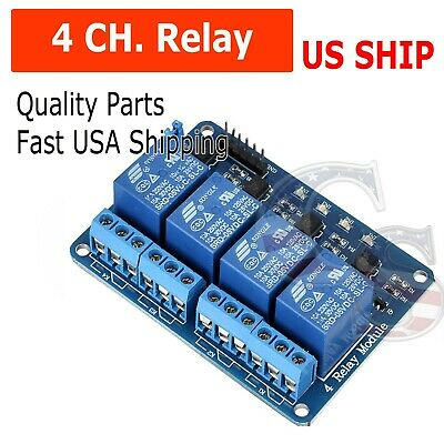 4 Channel DC 5V Relay Switch Module for Arduino Raspberry Pi ARM AVR DSP