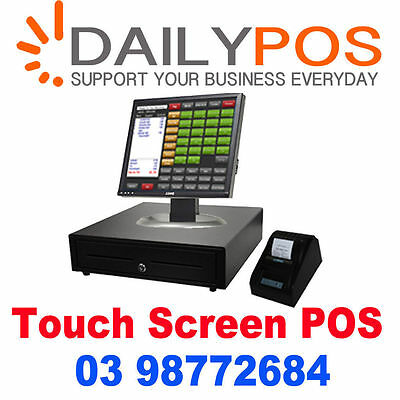 Touch Screen POS Cash Register Restaurant Cafe Kebab Pizza Fish Chips