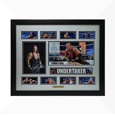 Undertaker WWE Signed & Framed Memorabilia - Silver/Black Limited Edition
