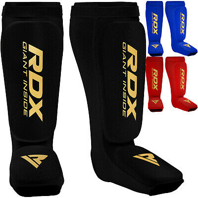 RDX Shin Instep Pads MMA Leg Foot Guards Kick Boxing Muay Thai Guard Protector