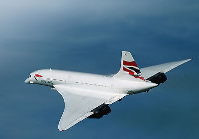 Concorde Plane Flight Flying WALL ART CANVAS FRAMED OR POSTER PRINT