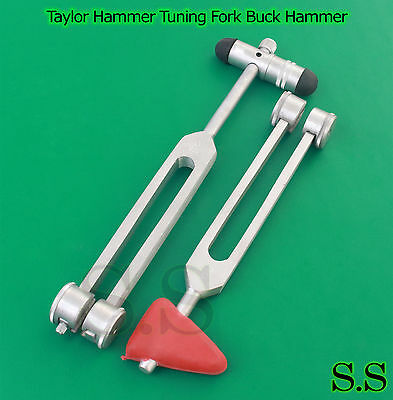 2 in 1 TAYLOR HAMMER C128 TUNING FORK Combo SET +TUNING FORK WITH BUCK HAMMER