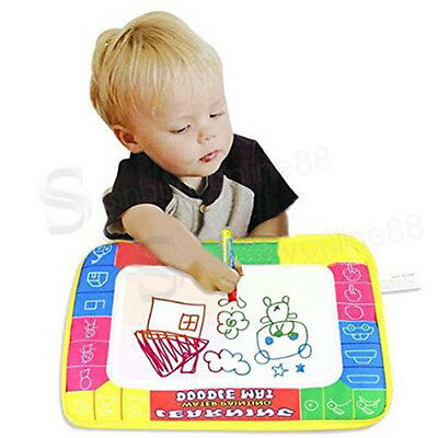 Kids Toddler Magic Water Drawing Toy Writing Painting Magic Pen Doodle Mat Board