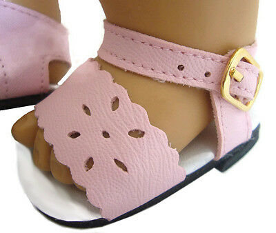 Pink Summer Sandals Shoes made for Bitty Baby + Twins Doll Clothes