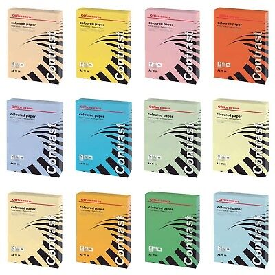 Office Depot A4 160Gsm Coloured Paper/card 250 Sheets Per Pack Range Of Colours