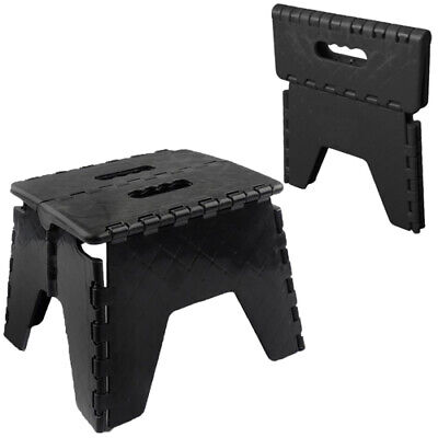 Folding Handy Step Stool Kitchen Bathroom Storage Collapsible Multi Purpose New