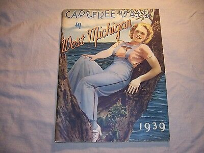 Vintage West Michigan Travel Brochure So. Grand Haven Saugatuck Holland Ferry