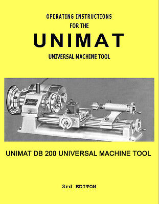 Unimat Universal Machine Tool DB 200 Manual and Accessories, PDF Computer Format