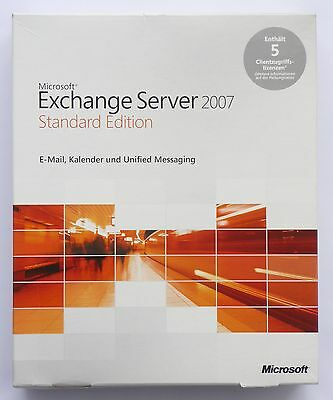 Microsoft Exchange Server 2007 Standard inkl. 5 CAL - NEU -