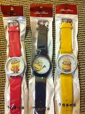 Minions Quartz Watch water resistant with stainless steel back - young adult