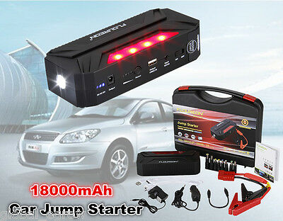 18000mAh Auto Voiture Portable Jump Starter Pack Booster Batterie Chargeur LED