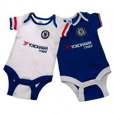 Chelsea 2 Pack Bodysuit 9/12 Months Babygrow Official Licensed Football Club