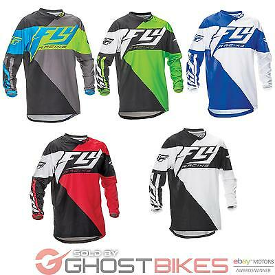 Fly Racing 2016 Youth F-16 Motocross Jersey MX Off Road Mesh Panels Shorty Cuffs