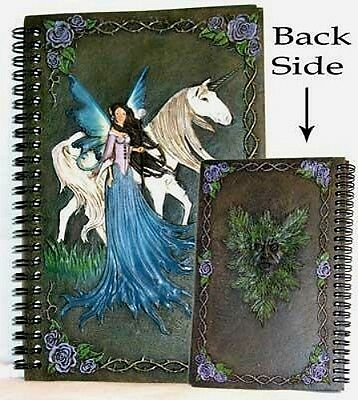 Fairy w/Unicorn Hand-painted Journal/BOS  - Unlined