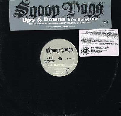 SNOOP DOGG Ups & Downs PROMO VINYL R&G: The Masterpiece BANG OUT Geffen USA 2005