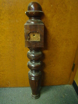 Vintage - Antique Wooden Newel Stairway Post - Architectural Salvage - HALF WALL