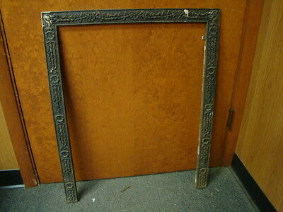 Antique Late 1800's Cast Iron Ornate Fireplace Insert Cover Frame