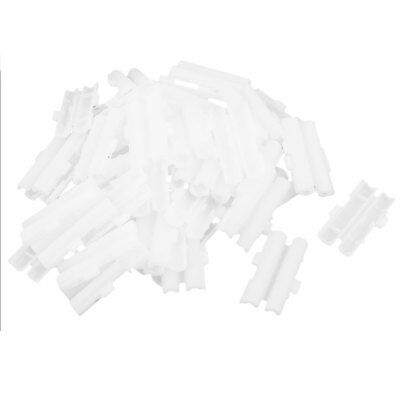 50 Pieces White Plastic Double 6x30mm Tube Fuse Holder Case Box