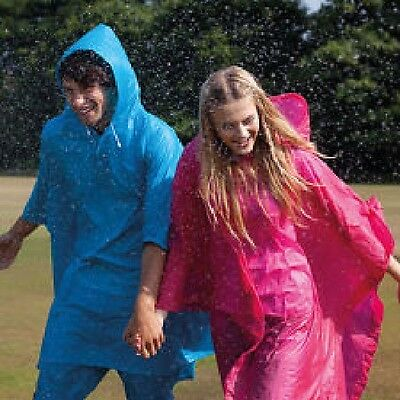 Splashmacs Waterproof PVC Poncho with Hood REUSABLE 8 Colours ADULT