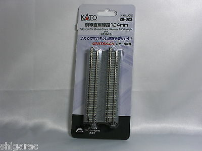 Kato n gauge Unitrack Concrete Tie Double Track 124mm Straight 2pcs 20-023