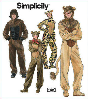 Simplicity Andrea Schewe Adult Sewing Pattern 2853 Costumes Gorilla/ Lion/Bear