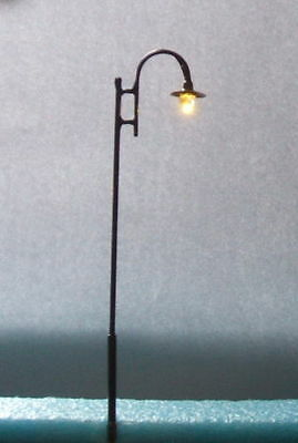 H57 ,10 model lampposts,Warm white led,135mm height,12 V,lamp,1:32