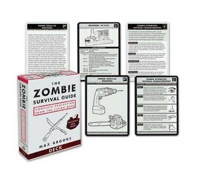 Zombie Survival Guide Deck 9780307406453 by Max Brooks, Games, BRAND NEW