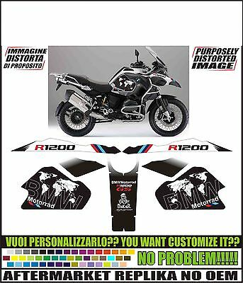 kit adesivi stickers compatibili  r 1200 gs 2014 lc adv replica world