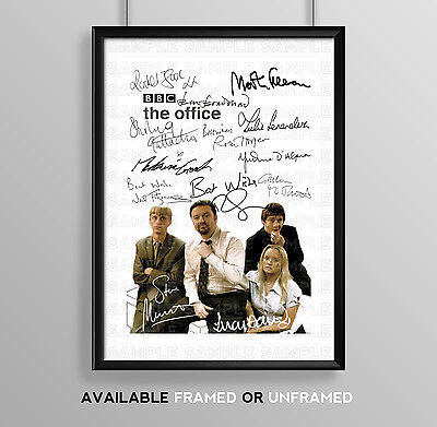 The Office Uk Cast Signed Autograph Print Poster Photo Tv Show Dvd Series Season