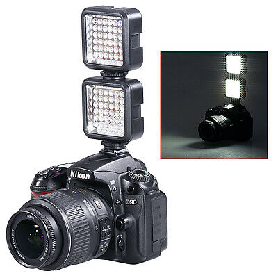 2x Bestlight Video Light 36 LED Rechargeable Battery for DV Canon Nikon DSLR