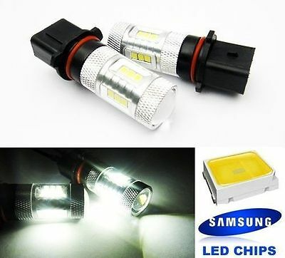 2x SAMSUNG P13W PSX26W High Power Projector LED DRL Daytime Running Light Xenon